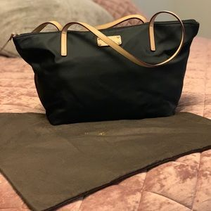 Kate Spade Nylon Shopper with leather handles